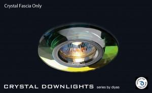 Diyas Spectrum Crystal Chamfered Round Downlight (Rim Only)