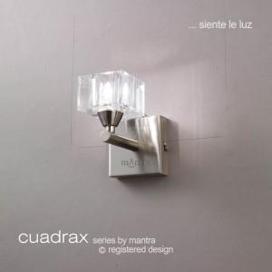 Cuadrax Wall Lamp 1 Light Polished Chrome