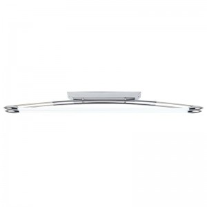 Chrome Twin Fluorescent Ceiling Light