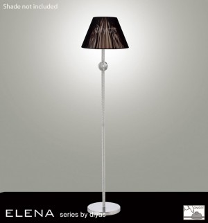Diyas Elena Floor Lamp 1 Light Polished Chrome/Crystal