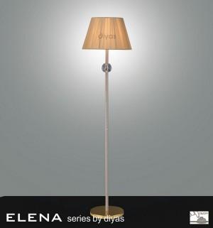 Diyas Elena Floor Lamp 1 Light Gold Plated/Crystal