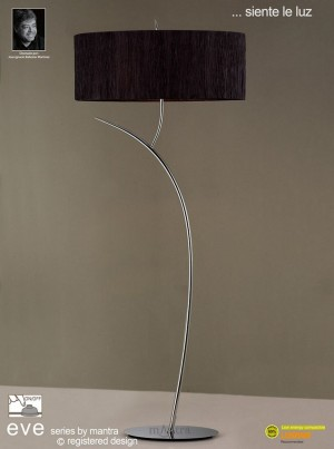 Eve Floor 2 Light Polished Chrome With Black Shade