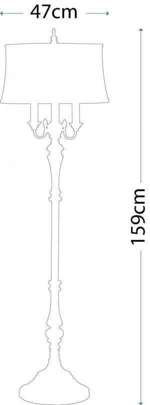 Feiss FE/GIBSON FL Gibson 1 - Light Floor Lamp