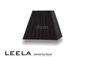 Diyas Leela Square Shade Black 250mm