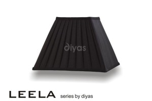 Diyas Leela Square Shade Black 300mm