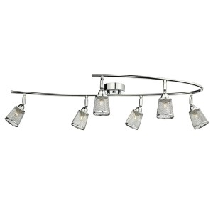 Lowell 6 Light Semi Flush Polished Chrome With Mesh Shade