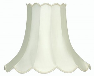 "Oaks Lighting S701/16 IV Ivory 16"" Scallop Shade"