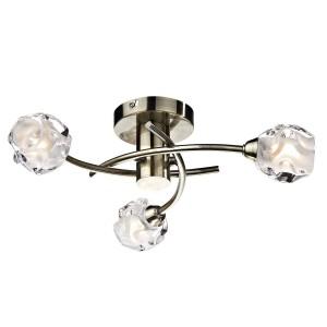 Seattle 3 Light Semi Flush - Antique Brass