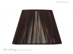 30cm Silk String Shade Dark Brown
