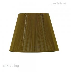 30cm Silk String Shade Olive