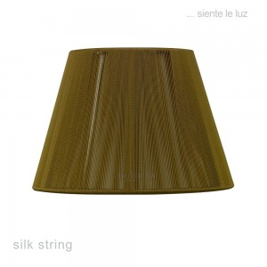 40cm Silk String Shade Olive