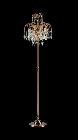 Impex Shower Floor Lamp Gold Plated - 1 Light