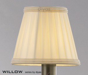 Diyas Willow Cream Small Clip On Shade